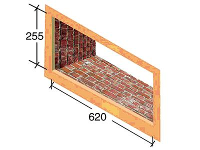 The reserved installation size drawing of air inlet model FC-2 wall vent